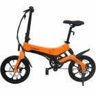 ONEBOT S6 Electric Bike Foldable Bicycle Variable Speed City E-bike 250W Motor 6.4Ah Battery Max 25Km/h Max Load 120kg yellow