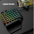 One-Handed Keyboard Left-Hand Gaming Keyboard 39-Key Full Key USB Interface Support for Backlight  Ordinary keycap version