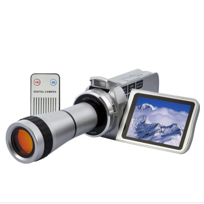 720p Video Camcorder w/ Telescope Zoom Lens