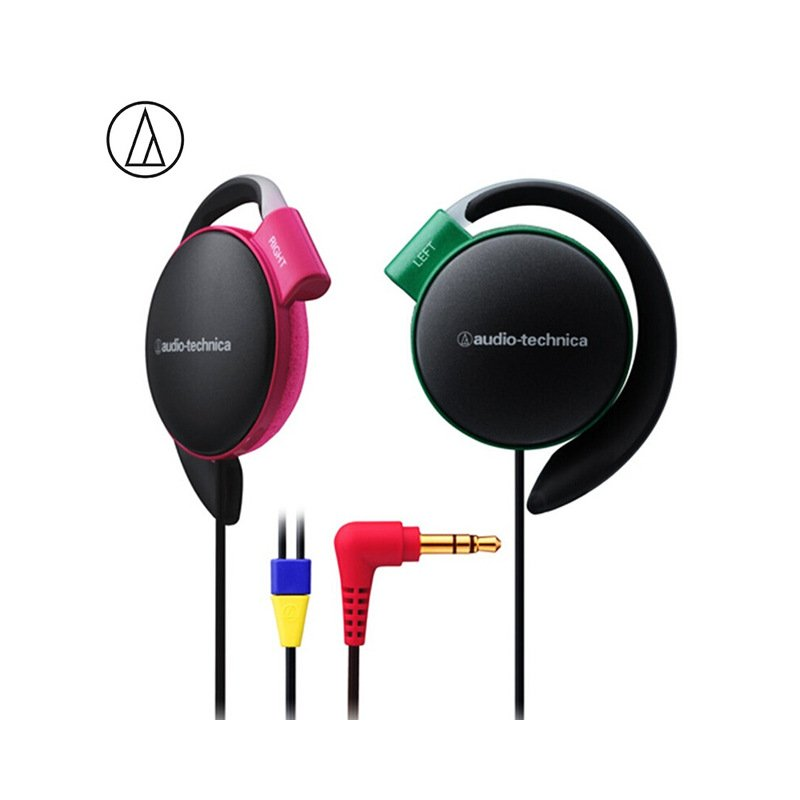 Original Audio Technica ATH-EQ500 Wired Earphone Music Headset Ear Hook Sport Headphone Surround Bass For Xiaomi Huawei Oppo Etc Contrast Color