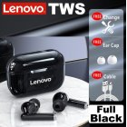 Original Lenovo Wireless  Earphones Bluetooth 5.0 Tws Earbuds LP1 9d Stereo Sound Noise Reduction Ipx4 Headsets With Mic black