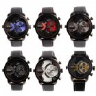 Oulm Men's Quartz Rubber Plastic Wrist Watch