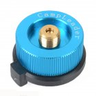 Outdoor Camping Stove Connector Burnerr Conversion Head Long to Flat Gas Bottle Adaptor Lake Blue