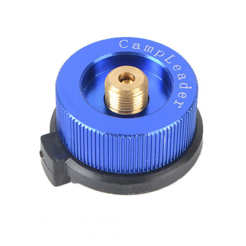Outdoor Camping Stove Connector Conversion Head Long Tank to Card Gas Bottle Cylinder Adapter Furnace Converter  Royal blue