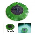 Outdoor Lotus Leaf Solar Powered Floating Fountain for Pond Garden Decoration green