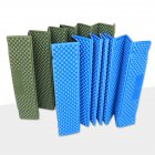 Outdoor Sleeping Pad Foldable Moisture-proof Thick Single Mat for Camping  [Army Green] Short paragraph 56*190cm
