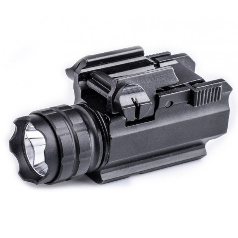 Outdoor Tactical Flashlight Pistol Handgun Torch Light with Mount for Hiking Camping Hunting
