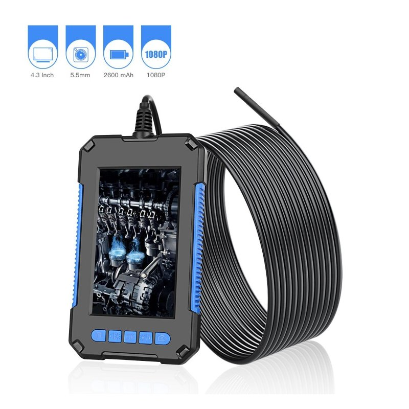 P40 Hd Endoscope Waterproof Industrial 200w Portable Handheld Endoscope with Screen 5.5mm 5 meters
