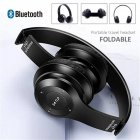 P47 Bluetooth Headset Foldable Wirless Stereo Earphone Support MP3 TF Card With Mic Widely Compatible Headphone  Matte black