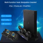 PS4 PS4 Pro PS4 Slim Dual Controller Charging Station with Cooling Fan for Sony Playstation 4 Dualshock 4 Pro Game Console black