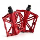 Pair Ultra-light Non-slip Aluminum Alloy Bicycle Mountain Bike Pedal red