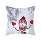Peach Skin Throw Pillow Cover Christmas Snow Man Pattern Cartoon Cover for Home Living Room Sofa Decor 45*45cm