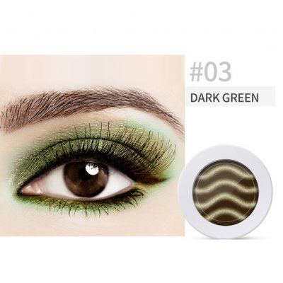 Pearl Light Matte Gradient Eyeshadow Contour Powder Makeup Tool Face Highlighter 3# dark green