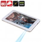 Buy Android Projector Tablet - 8 Inch 1280x800 Screen, RK3188 Quad Core CPU, 100 Lumens DLP Projector, 8000mAh Battery