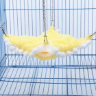 Pet Hammock Warm Double Layer Hammock Sleeping Bag for Pet Hamster Squirrel Chinchilla large_yellow