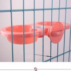 Pet Hanging Double Bowl Drinking Fountain Feeding Bowl for Dogs Rose Red_L: 29.5*15*4.5CM