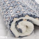 Pet Mat Thickening Warm Autumn Winter Cat Dog Blanket Anti-slip Cushion Blue star_4# 61*41cm