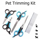 Pet Trimming Comb  Nail Scissors Stainless Steel  Grooming Tool  for Cat Dog Trim set