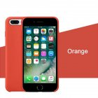 Phone Case Protection Shell For Phone7plus/8plus Liquid Soft Silicone Flocked Interior Case Cover 32# orange_iPhone7plus/8plus