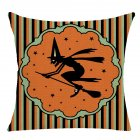 Pillow Case Halloween Pumpkin Trick or Treat Letters Decoration Flax Sofa Cushion Pillow Case Cover A_45*45cm