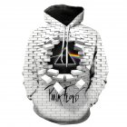 Pink Floyd 3D Digital Print Sweater for Men and Women Hooded Sweater white_L