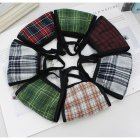 Plaid Mask Cotton Warm Windproof Outdoor Mask Random Color