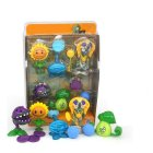 Plants vs. Zombies Toy Double Head Peashooter Clover Gift Box Set Toy 686-45 [high frequency version] sun god models