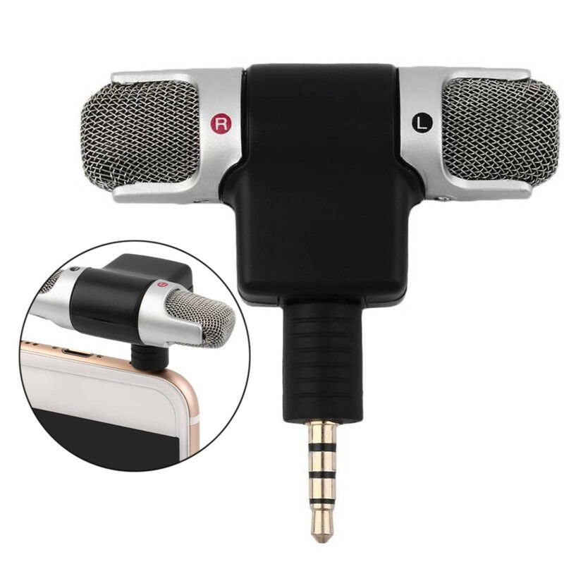 Portable 3.5mm Mini Stereo Microphone for MP3/MP4/Mobile Phone/Tablet Mobile version