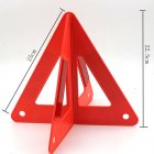 Portable Auto Car Red Safety Emergency Reflective Combined Type Warning Triangle red