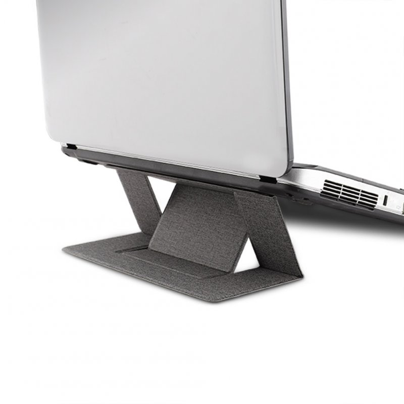 Portable Bracket for Macbook Invisible Laptop Stand Holder Ultra-Thin Seamlessly Detachable Adjustable Notebook Riser gray