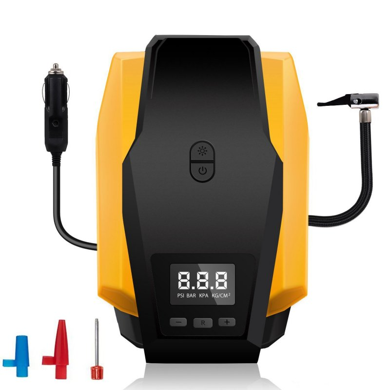 Portable Car Air Compressor Pump 12V 150 PSI Auto Digital Electric Tire Inflator with Gauge for Car, Truck, SUV, Basketballs and Other Inflatables  Digital display version
