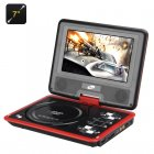 Buy 7 Inch Portable DVD Player Game Function - Rotatable Screen, TFT Color Display, eBook, Controller (Red)