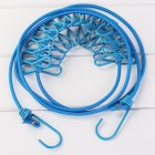 Portable Home Travel Elastic clothes Line Belt With 12 Clothes pins blue