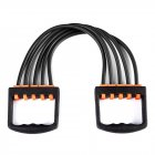 Portable Indoor sports Supply Chest Expander Puller Exercise Fitness Resistance Elastic Cable Rope Tube Yoga black