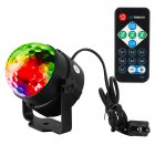Portable Mini LED Disco Ball Light Remote Control RGB Party Lamp 7 Colors Sound Actived Crystal Magic Stage Light for Parties  KTV  Club