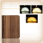 Portable USB Rechargeable LED Light Foldable Wooden Book Lamp for Home Decor Wooden Black Walnut Dupont Paper Small