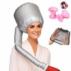 Portable Ultra-long Hair Dryer  Oil Curly Styling Heating Cap Set Fast Without Hurting  Silver + pink bell roll_25 * 17
