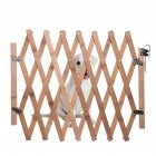 Portable Wooden Fence Folding Pet Isolation Gates Fence with Sliding Pet Supplies Wood color_S-small