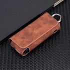 E-Cigarette Leather Case Holder Cover Brown