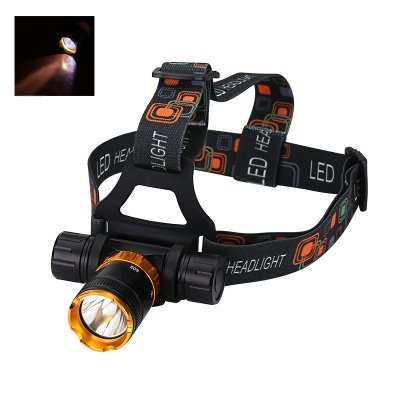 LED Headlamp - 800 Lumens, Waterproof, CREE XM-L T6 LED, 18650 Battery
