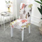 Printing Removable Chair Cover Stretch Elastic Slipcoversfor Weddings Banquet Maple leaf_One size