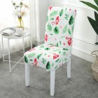 Printing Removable Chair Cover Stretch Elastic Slipcoversfor Weddings Banquet Flamingo_One size