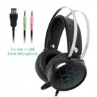 Professional 7.1 Gaming Headset Gamer Surround Sound USB Wired Headphones with Microphone for PC Computer Xbox One PS4 RGB Light 3.5 short Mic