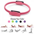 Professional Yoga Circle Pilates Sport Magic Ring Women Fitness Kinetic Resistance Circle Gym Workout Pilates Accessories Pink_OPP bag
