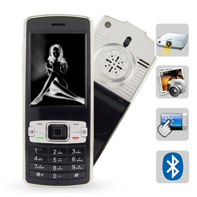 Projector Phone Triband GSM/GPRS Touchscreen Cell Phone