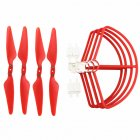 Propeller Protective Cover Protector RC Quadcopter Parts for HUBSAN 117S zino red