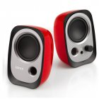 Original EDIFIER R12U Desk Laptop Speaker Wired 3.5mm Super Bass Professional Cpmputer Speaker Portable for Home Car Outdoor Travel  red