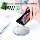 QI Wireless Charger for Apple Android 15W Fast Charging Technology Aluminum Alloy Mirror-like Shiny Ultra-thin Protable  white