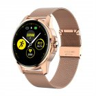 R23 Smart Bracelet Blood Pressure Heart Rate Monitor Fitness Tracker Sports Step Count Smart Band Gold steel strap