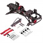 RC Car Frame Kit 1/10 CNC Aluminum for SCX10 AXIAL RC Crawler Climbing Car without Tire as shown